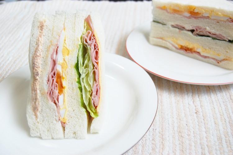 朝食,サンドイッチ,